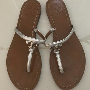 Tory Burch Silver Sandals